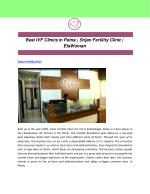 Best IVF Clinics in Patna | Srijan Fertility Clinic | ElaWoman