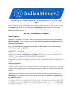 Indian Money Review of Aspects to Check While Buying a Health Insurance for Parents – Indian Money