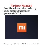 Top Xiaomi executive trolled by users for using fake pic to promote POCO F1