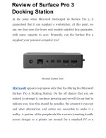 Review of Surface Pro 3 Docking Station
