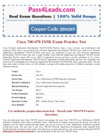 Cisco 700-070 Test Practice Exam Dumps 2018