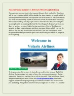 Volaris Phone Number 1-800-525-9861 USA (Toll-Free)