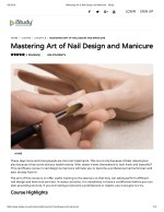 Mastering Art of Nail Design and Manicure - istudy
