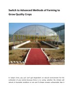 Switch to Advanced Methods of Farming to Grow Quality Crops