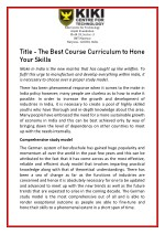 The Best Course Curriculum to Hone Your Skills