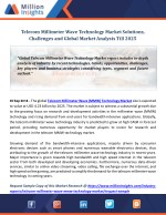 Telecom Millimeter Wave Technology Market Solutions, Challenges and Global Market Analysis Till 2025