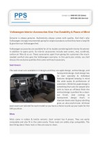 Volkswagen Interior Accessories Give You Durability & Peace of Mind