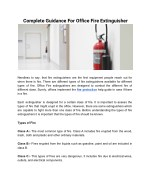 A Brief Explanation On Office Fire Extinguishers