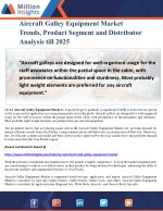 Aircraft Galley Equipment Market Trends, Product Segment and Distributor Analysis till 2025