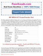 HP HPE0-S37  Exam Questions