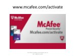 Download McAfee Activate - McAfee.com/activate