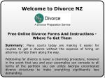 Divorce Application Form at divorcenz