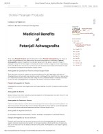Medicinal Benefits of Patanjali Ashwagandha