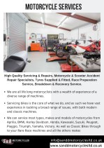 Motorcycle services by S&D Motorcycles