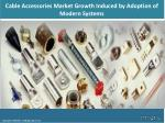 Global Cable Accessories Market Sales, Size, Revenue Status, Analysis, Trends & Forecast During 2018-2023