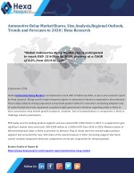 Research Insights on Global Automotive Relay Market Size, Share, Growth and Forecast to 2020