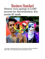 History owes apology to LGBT persons for discrimination: Key points SC made