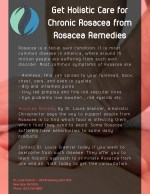 Get Holistic Care for Chronic Rosacea from Rosacea Remedies