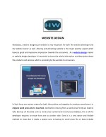 eCommerce Website Design - HW InfoTech