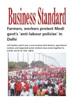 Farmers, workers protest Modi govt's 'anti-labour policies' in Delhi