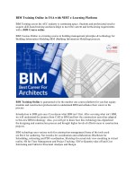 BIM Training Online in USA with NIBT e-Learning Platform