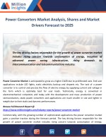 Power Converters Market Analysis, Shares and Market Drivers Forecast to 2025