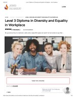 Level 3 Diploma in Diversity and Equality in Workplace - John Academy