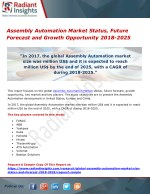 Assembly Automation Market Status, Future Forecast and Growth Opportunity 2018-2025