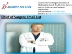 Chief of Surgery Mailing List | Surgery Email List