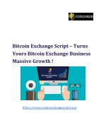 Bitcoin Exchange script | Bitcoin Exchange Script PHP