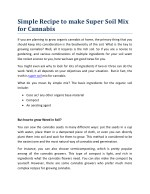 Simple Recipe to make Super Soil Mix for Cannabis