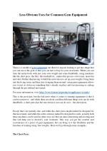 Less Obvious Uses for Common Gym Equipment