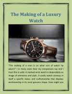 The Making of a Luxury Watch