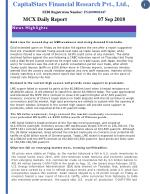 Mcx daily report 7 sept