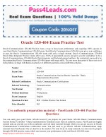 Oracle 1Z0-404 Exam Practice Questions - 2018 Updated