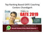 Top GATE Coaching Centers Chandigarh
