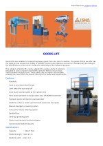 Hydraulic Goods Lift, Elevator - Manufacturers in Coimbatore.