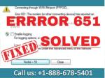 Call 1-888-678-5401 Steps to fix AT&T error code 651