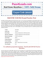 Dell EMC E20-562 Exam Dumps - E20-562 PDF Questions