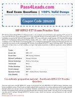 HP HPE2-T27 Exam Dumps - HPE2-T27 PDF Questions
