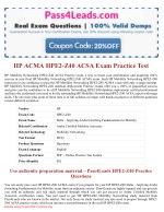 2018 Updated HPE2-Z40 ACMA Exam Practice Questions