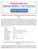 JN0-661 Exam Practice Test Online - 2018 Updated with 30% Discounted Price