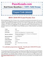 IBM C2010-555  Exam Practice Questions - 2018 Updated