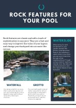 Rock Features for Your Pool