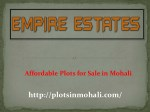 Best Plots for Sale in Mohali