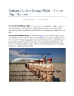 Emirates Airline Flight Support - Airline Flight Support
