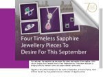 Four Timeless Sapphire Jewellery Pieces To Desire For This September