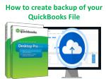 How to create backup of your quickbooks file