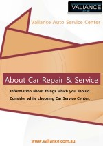 Things You Need To Look For In a Car Repair Centre - Valiance