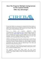 Does the property multiple listing system in the Cayman Islands offer any advantage? - CIREBA
